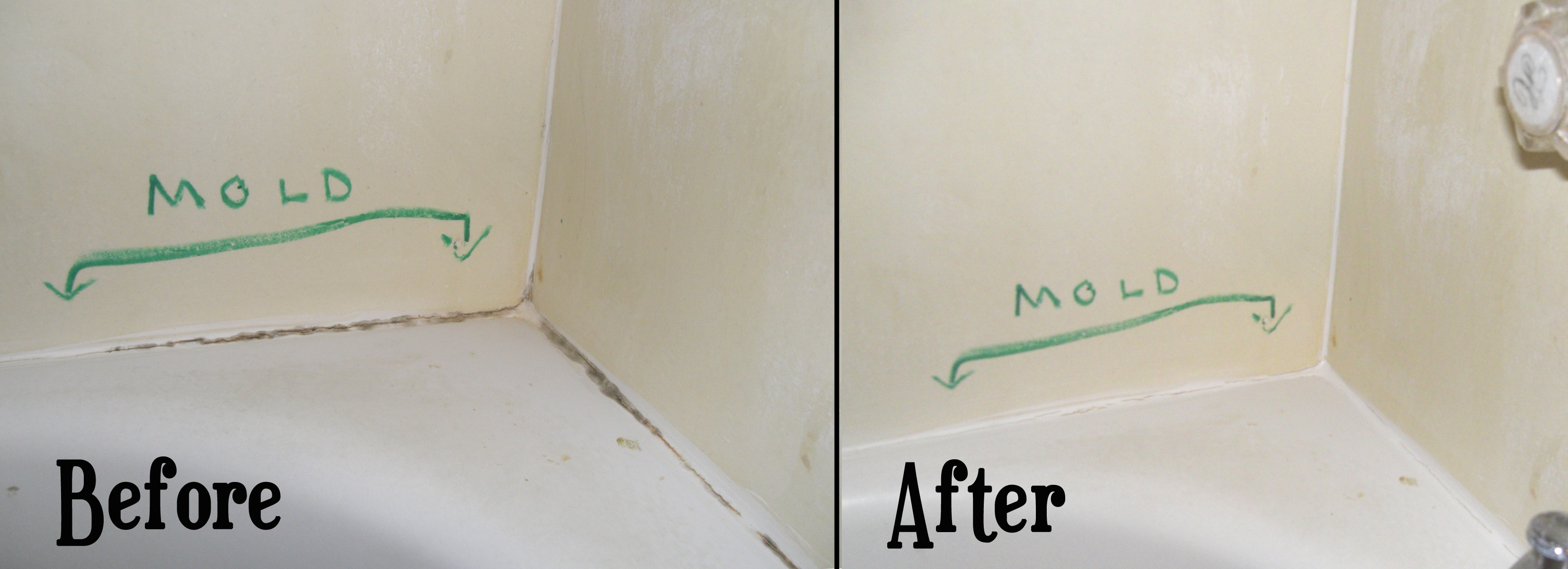 Re Sparkle Cleaning   Bathroom Caulk Sealant Cleaning   Before And After